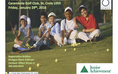 Cane Bay Partners VI, LLLP Sponsors Junior Achievement Golf Tourney, Co-CEO Kirk Chewning Joins the Fun