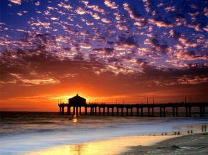 Sunset in my home town of Manhattan Beach. Photo Credit: My Dad, Peter Joyce.