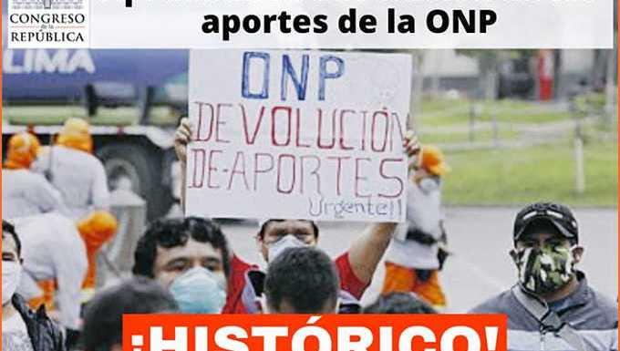 Histórico: Congreso aprueba retiro de fondos de la #ONP hasta por S/4.300