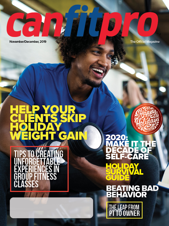 canfitpro Magazine | Nov/Dec 2019 cover