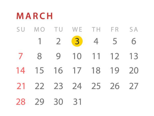 Nutrition event calendar