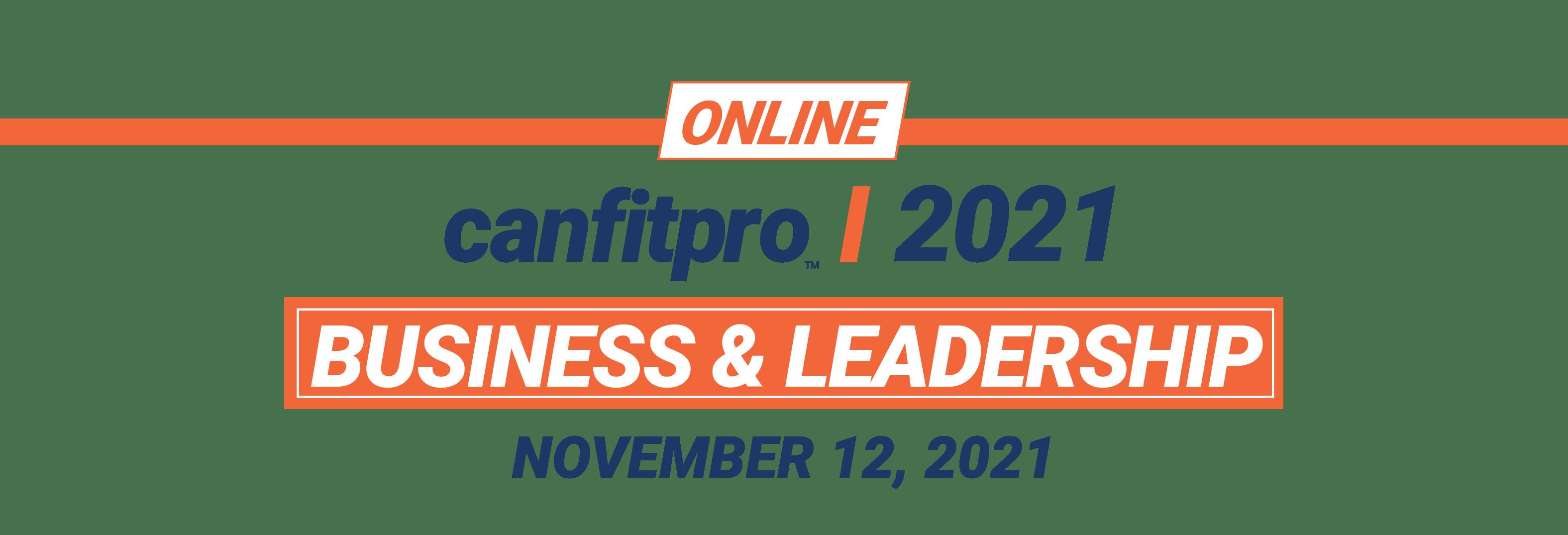 canfitpro 2021 Online: Business & Leadership logo