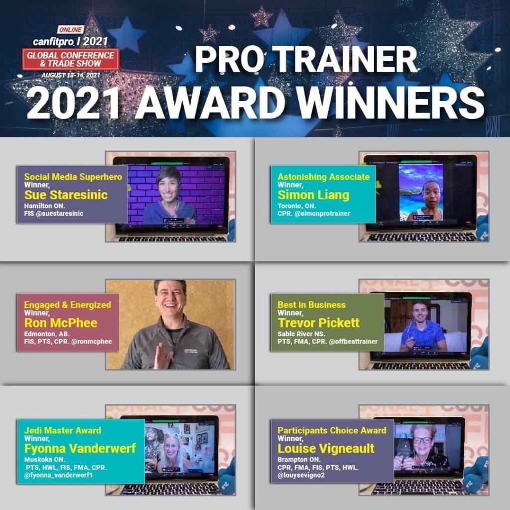 2021 PRO TRAINER Award Winners