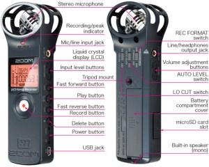ZOOM H1 HANDY PORTABLE RECORDER For micro SD  micro SDHC