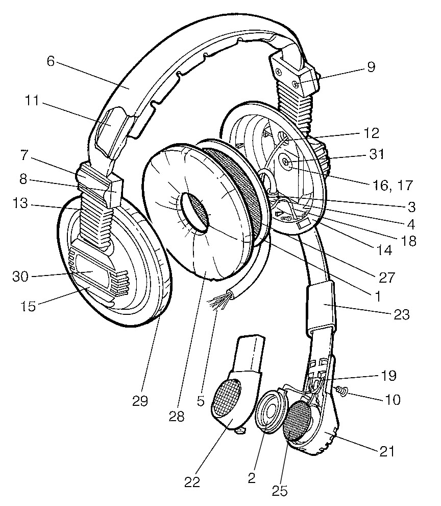 Headphone Parts Diagram. Diagram. Auto Wiring Diagram