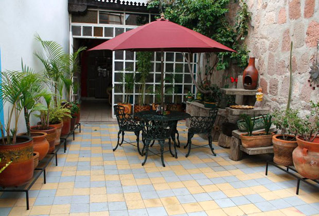 Casa Rosa is a traditional Old Mexico style bed and breakfast in Morelia
