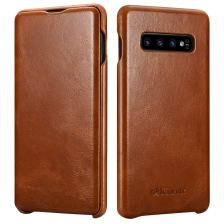 iCarer Vintage Case for Samsung Galaxy S10 Plus - Brown