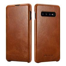 iCarer Vintage Case for Samsung Galaxy S10 - Brown