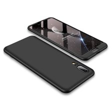 GKK 360 Protection Front and Back Case Full Body for Huawei P20 - Black