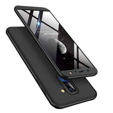 GKK 360 Protection Front and Back Case Full Body for Galaxy A6 Plus 2018 - Black