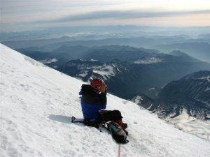 Will high on the ice of Mt. Rainier