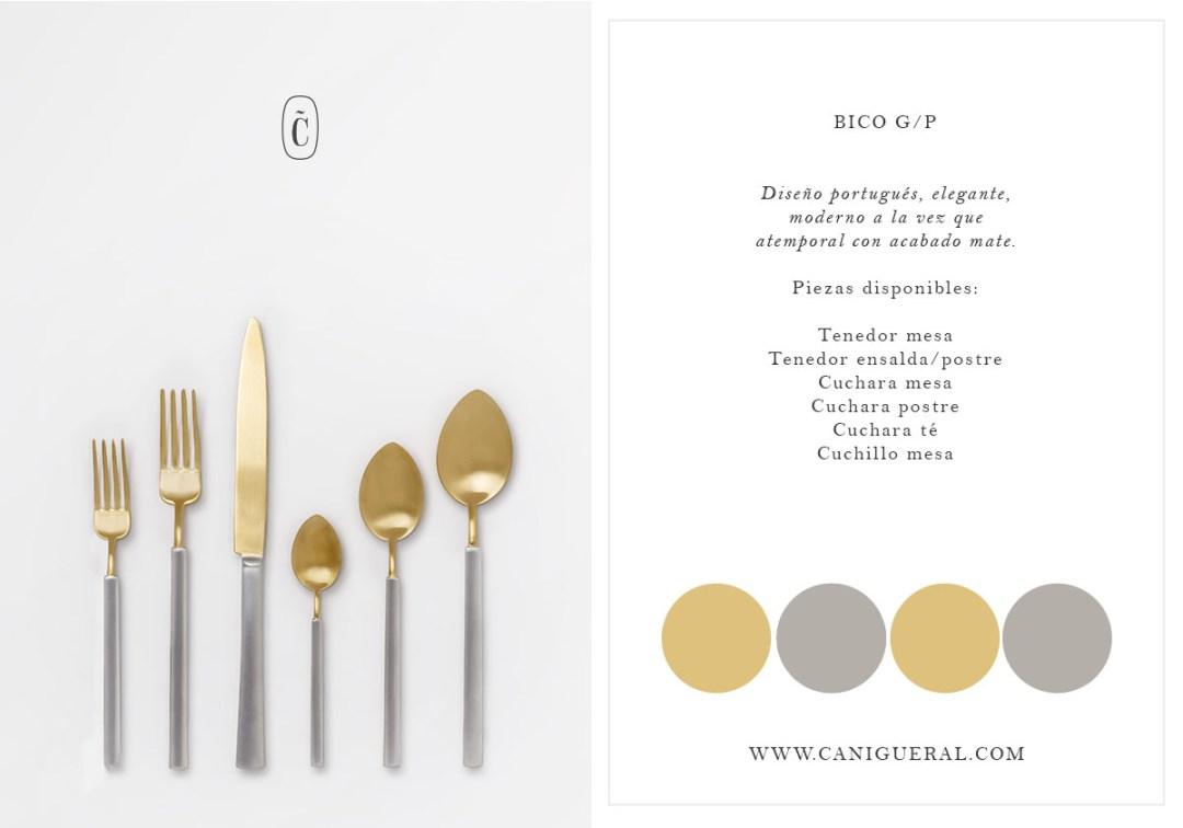 cuchillo oro plata