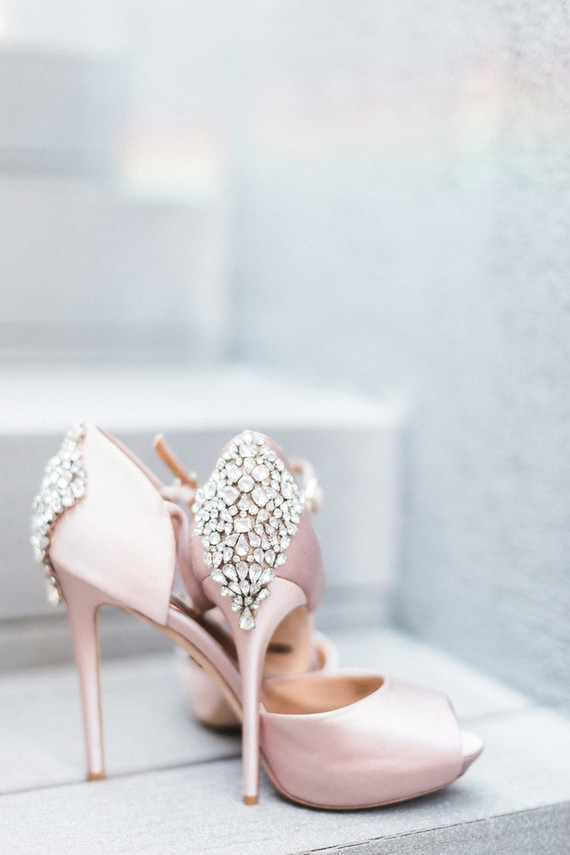 Pink bridal heels . Mr. Right