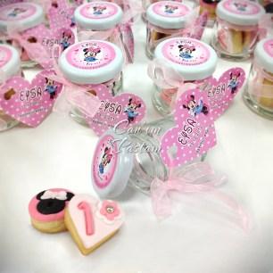 Minnie Mouse Cookie, 1 Yaş Kurabiyesi, Kavanoz Kurabiye