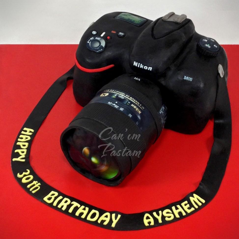 Nikon D800 Cake, Nikon Cake, Fotograf Makinesi Pastası, Nikon Pasta, Model Pasta