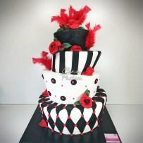 Wonka Cake Red Black Wonka Cake