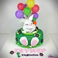 Bunny Cake Rabbit Cake 1 Yaş Pastası