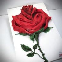 Güllü pasta rose cake red rose cake