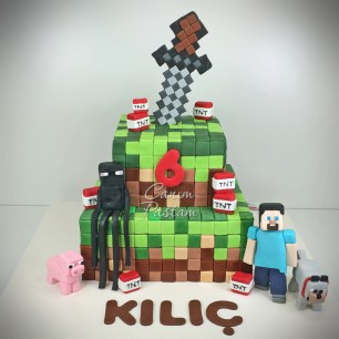 Mine Craft Cake Game Cake