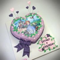 Heart Shape Cake Princes Sofia Cake