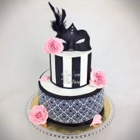Mask Cake Damask Cake Flower Rose Cake