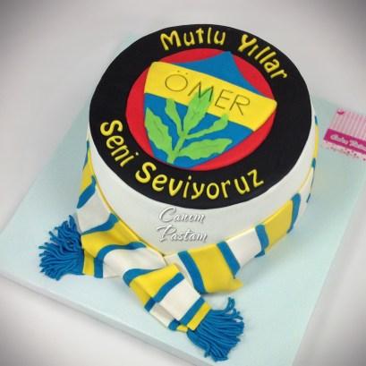 FB Pasta Fenerbahçe Logo Pasta Fenerbahçe Cake