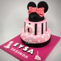 Minnie Mouse Cake Mini pasta 1 yaş pastası