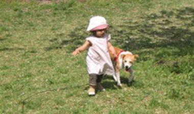 幼児と歩く