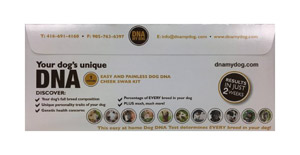 DNA My Dog envelope
