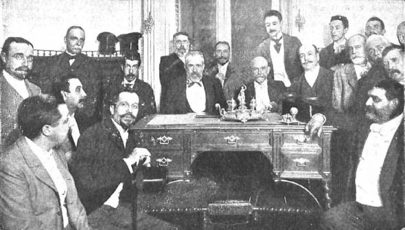 Romero Robledo, en 1900, con sus partidarios electorales – MANUEL COMPAÑY
