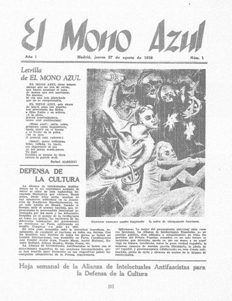 Portada del primero número de la revista, en agosto del 36