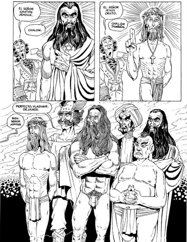 Una página de 'God's Club' de Gotlib