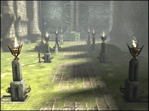 Imagen del videojuego Ico
