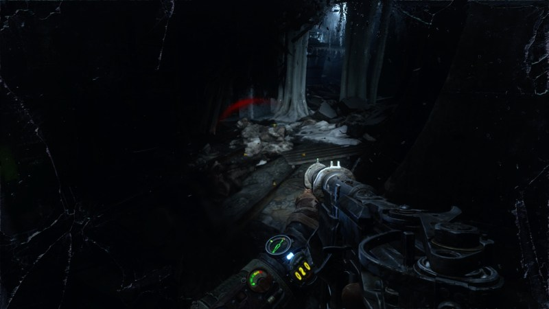 Player in dark area being attacked by an enemy that's not visible. Visual indication of where damage is coming from.