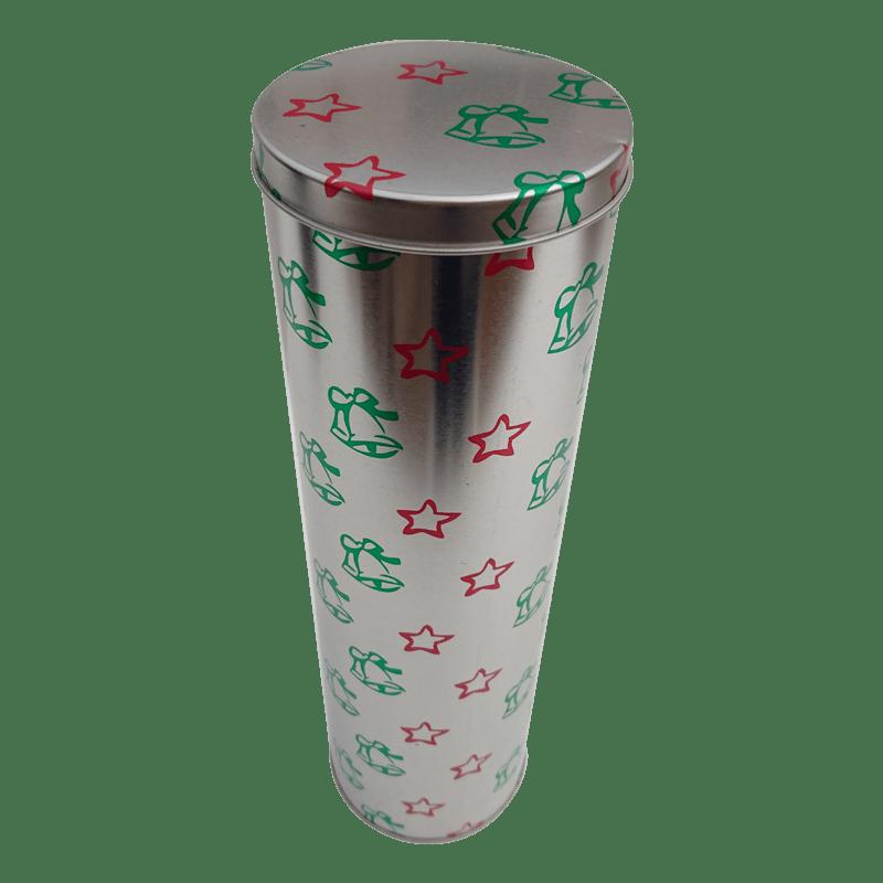 Cr12 XMAS 93x315 Custom Round Wine Tin Box