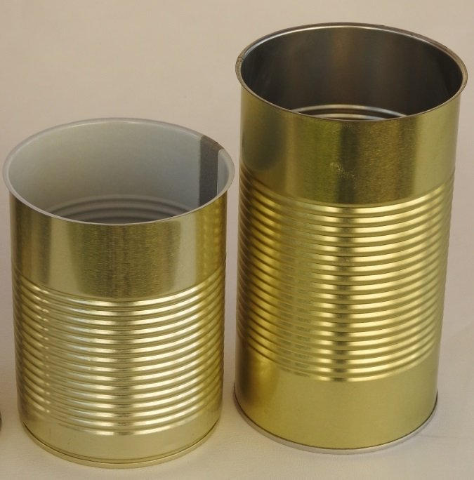 Round Metal Coffee Tin Cans