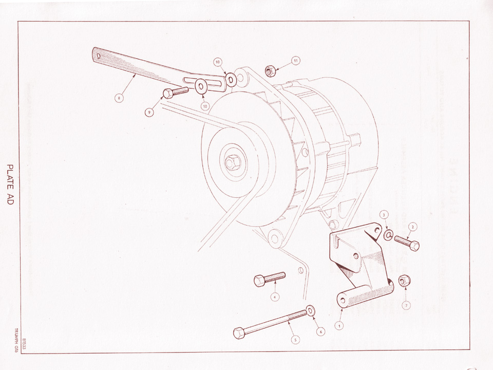 MkII Alternator Mounting Details @ Canley Classics