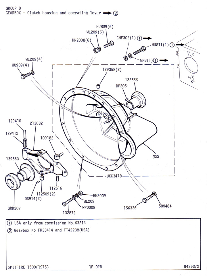 Clutch Housing and Operating Lever to FR33413 @ Canley