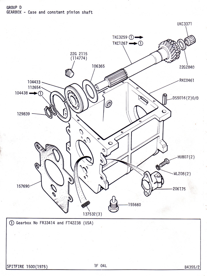 Case and Constant Pinion Shaft @ Canley Classics