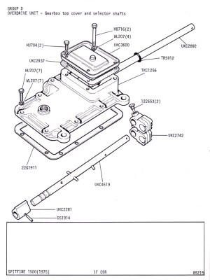 J Type Overdrive Unit  Gearbox Top Cover and Selector