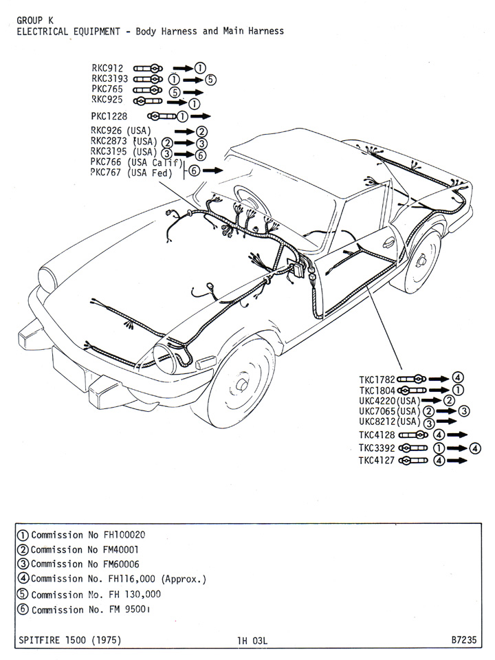 tr7 headlight wiring diagram