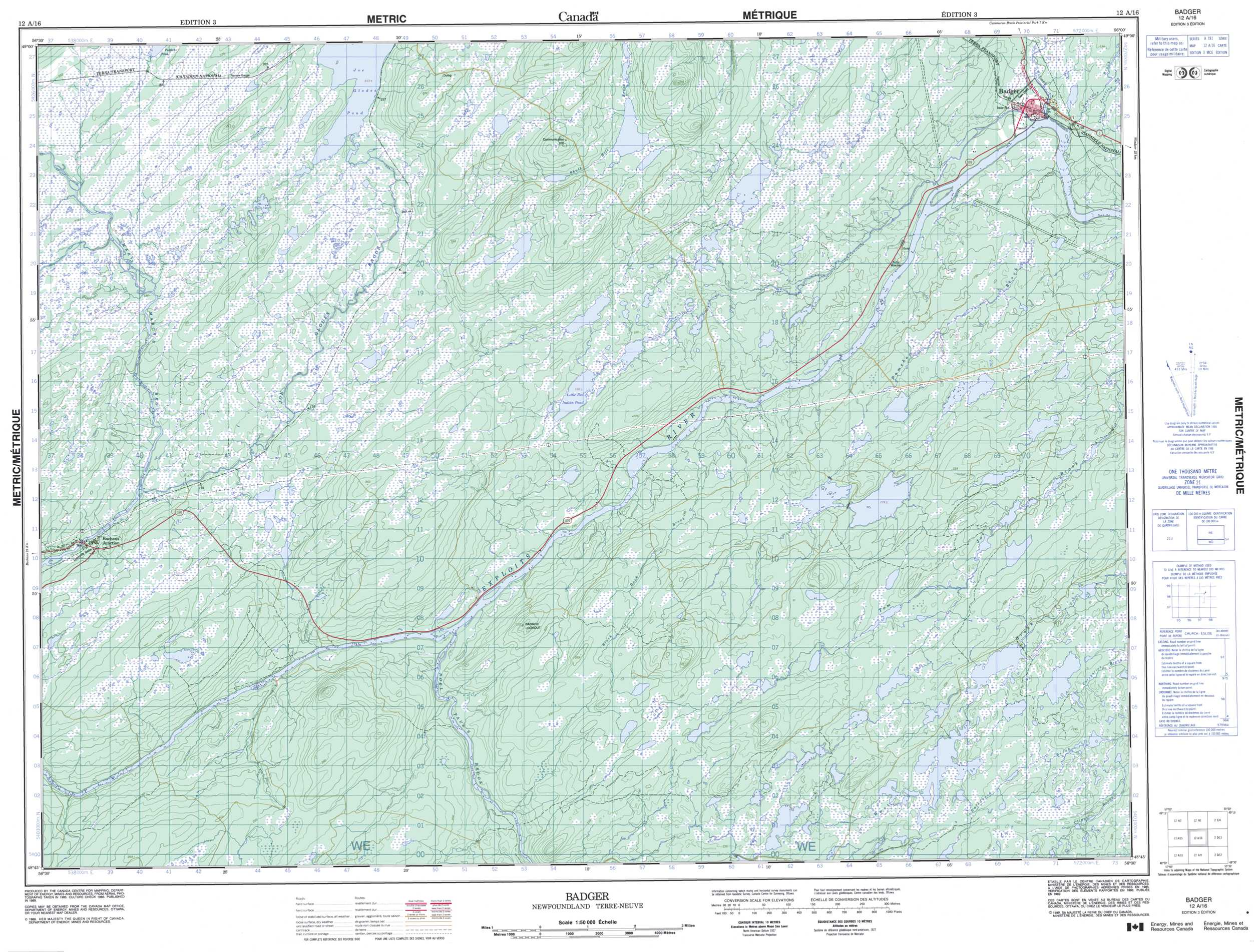 Buy Badger Topographic Map Nts Sheet 012a16 At 1 50 000 Scale