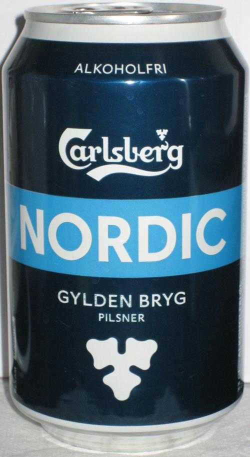 CARLSBERG-Beer -alcohol free-330mL-NORDIC GYLDEN BRYG P-Denmark