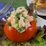 Marijuana Recipes - Shrimp Salad Stuffed Tomato