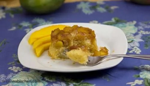 Marijuana Recipes - Mango Upsidedown Cakes