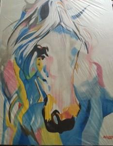 Prison art oil painting by Life for Pot prisoner Michael Pelletier