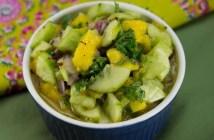 Marijuana Recipes -- Cannabis Cucumber and Mango Salad