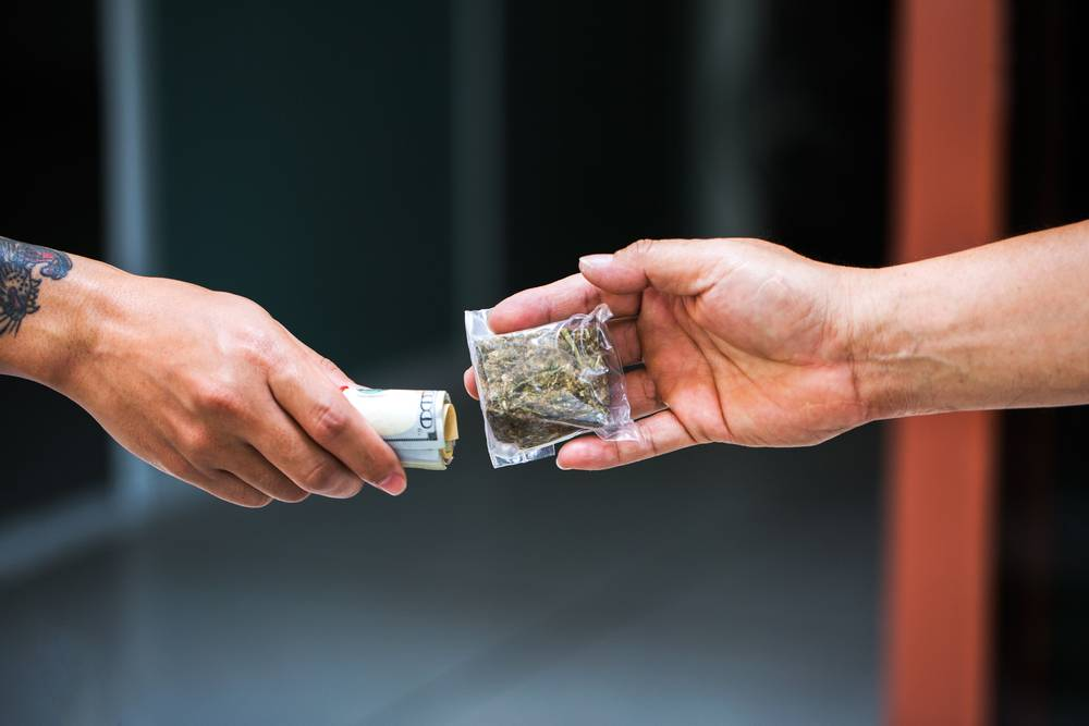paying for weed on the black market