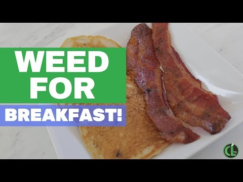 Weed Bacon with Pancakes