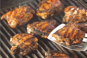 Soy marinated chicken thighs